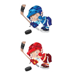 set funny boy hockey vector image