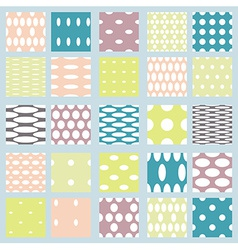 Set of elegant polka dot patterns vector