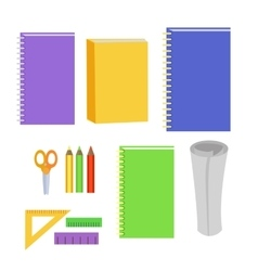 Set of Stationery Office Elements Workplace Tools vector image