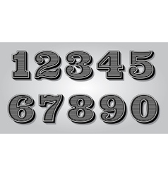 Set stylized digits for design certification vector