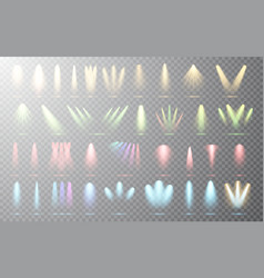spotlight set collection on transparent background vector image