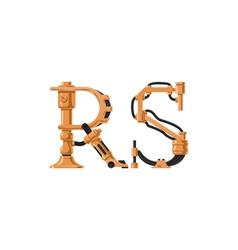 Steampunk font vector