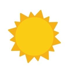sun representation icon vector image