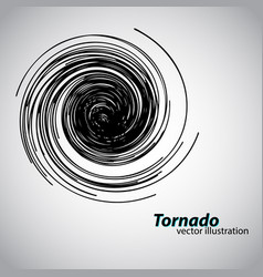 tornado from curves and spirals vector image