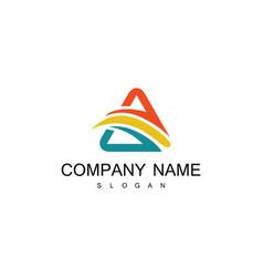 Triangle swirl colored logo vector