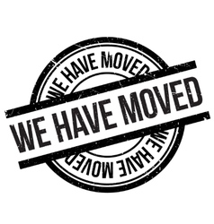 We Have Moved Stamp Vector