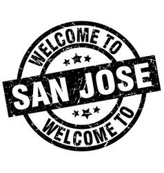 welcome to san jose black stamp vector image