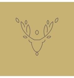 Abstract Line Drawing Of Deer Head vector image