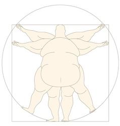 Conceptual modern icon vetruvian man basis of vector