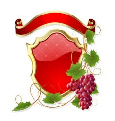 frame with vine vector image vector image