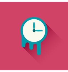 Melting clock icon vector image vector image