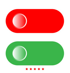 toggle switch icon flat style vector image