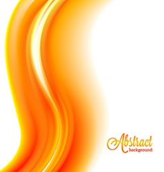 Abstract blurred orange flame background vector image vector image