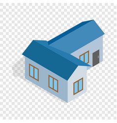 blue house isometric icon vector image