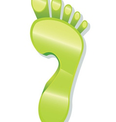 Glossy Foot Print Icon vector image vector image