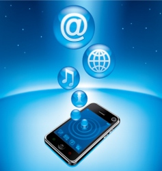 mobile device vector image vector image