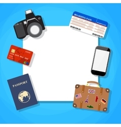 traveling around the world vector image