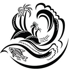 Tropic Island vector image vector image