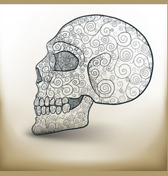 decorated skull vector image