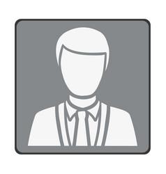 emblem man customer icon vector image