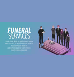 funeral services banner burial cemetery vector image