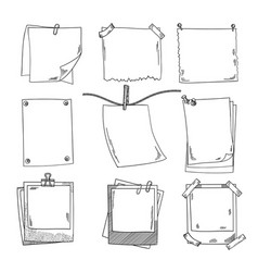 photo frames and different blank notepaper vector image vector image