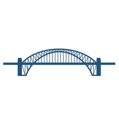sydney harbour bridge flat blue icon isolated on vector image vector image