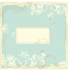 Vintage Floral Card vector image vector image