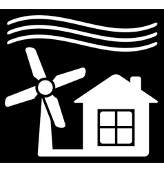 windmill power icon vector image vector image