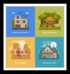 Homes and Houses Dwelling Set vector image