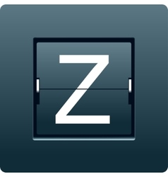 Letter z from mechanical scoreboard vector