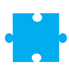 Puzzle piece icon on white background puzzle vector