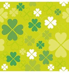 Shamrock seamless pattern clover backdrop vector