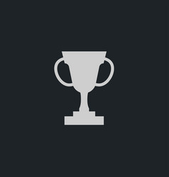 trophy icon simple win sign vector image