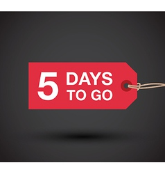 5 days left sale vector image
