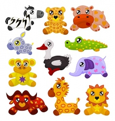 African toy animals vector image vector image