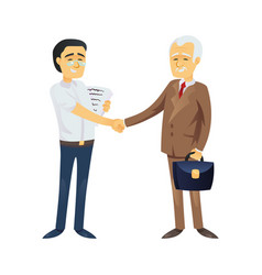 Asian business men shaking hands vector