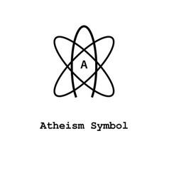 Atheism symbol icon vector