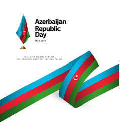 Azerbaijan republic day template design vector