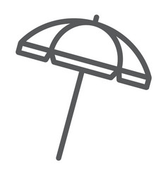 beach umbrella line icon travel and parasol vector image