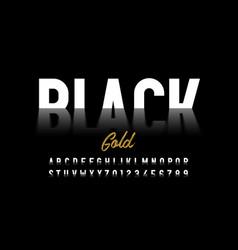 black gold style font crude oil alphabet letters vector image