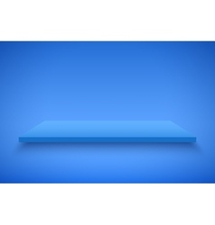 Blue Presentation platform vector