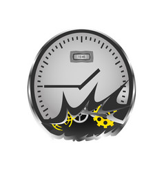 broken watches in which the gears are visible vector image