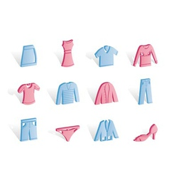 clothing internet icons vector image vector image