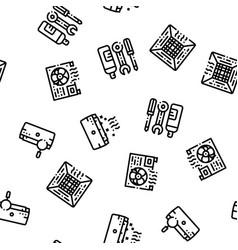Conditioner repair seamless pattern vector