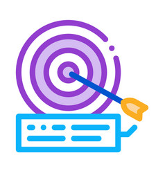 Dart hit target icon outline vector