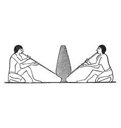 Egyptian glassblowers vintage vector