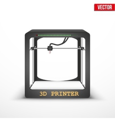 Electronic three dimensional plastic 3D printer vector image