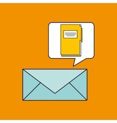 Email folder directory book design vector