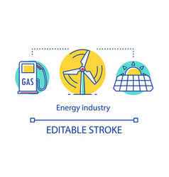 Energy industry concept icon power sector vector